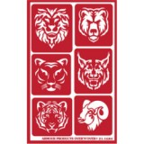 Exotic Animals Stencil One Inch Over N Over
