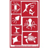 Sea Creatures Stencil One Inch Over N Over