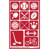 Sports Stencil One Inch Over N Over