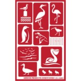 Water Birds Stencil One Inch Over N Over