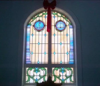 Thorndike Church Custom Anchor and Bible Window