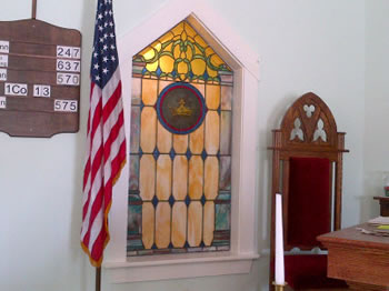 Thorndike Church Custom Crown Window