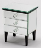 Diana Three Drawer Mirror Box