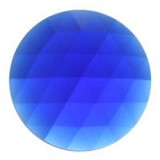 Glass Jewel, Round Faceted Dark Blue 30mm