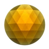 Glass Jewel, Round Faceted Light Amber 20mm