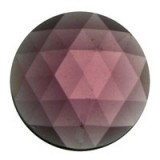 Glass Jewel, Round Faceted Amethyst 20mm