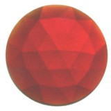 Glass Jewel, Round Faceted Red 25mm
