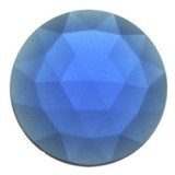 Glass Jewel, Round Faceted Dark Blue 25mm