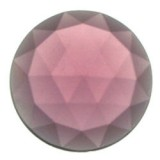Glass Jewel, Round Faceted Amethyst 25mm