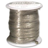 Braided Tinned Copper Reinforcement Wire, 1 lb roll
