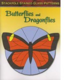 Butterflies and Dragonflies Stained Glass Pattern Book