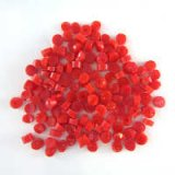 Glass Polka Dots Red Opal 96 COE