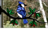 Window Frame Birds Kit - Blue Jay