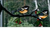 Window Frame Birds Kit - Chickadee Pair
