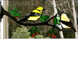 Window Frame Birds Kit - Gold Finch Pair