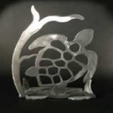 Turtle Brushed Aluminum Art Stand