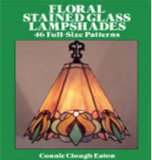Floral Stained Glass Lampshades - 46 Full-Size Patterns