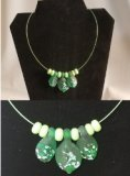 Fun Night Out Glass Leaf Necklace Friday August 21, 2020