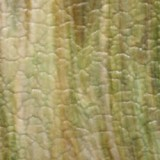 Kokomo Green, Dark Amber and White Wavolite Textured Art Glass