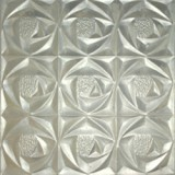 Kokomo Clear Whitney Textured Art Glass
