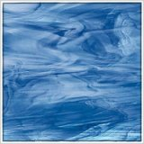 Oceanside Sky Blue, Dark Blue & White Translucent Glass