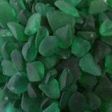 Beach Glass  Large Hunter Green