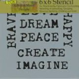 Inspired Words Fusing Stencil