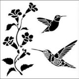Hummingbirds Fusing Stencil