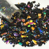 Dichroic Glass Frit Flakes Black 96 COE