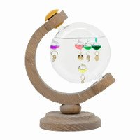 Wood Globe Galileo Thermometer