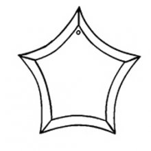 Curved Star Bevel Ornament