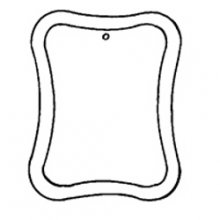 Curved Rectangle Bevel Ornament