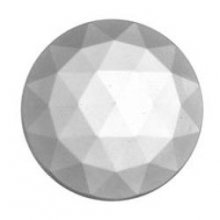 Glass Jewel, Round Faceted Crystal Clear 20mm