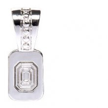 Silver Plated Studded Pendant Bail  5 Pack