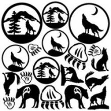 Wolves and Bears Decals