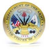 U.S. Department of the Army Glass Paperweight