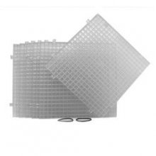 Clear Waffle Grid Surface  6 pack