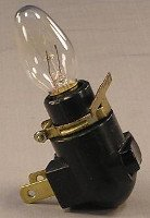 Night Light Base Black With Bulb and Clip