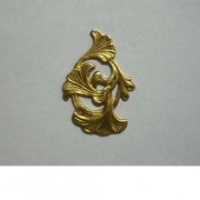 Ginko Leaf Filigree Brass