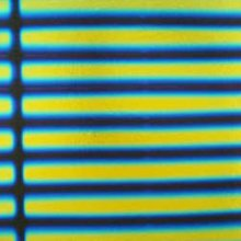 Blue/Gold Stripes on Black Dichroic Glass 90 COE