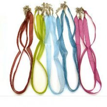 Sheer Ribbon Cord Necklace  10 Pack