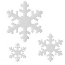 White Snowflake II Precut Fusible Glass Shape 96 COE