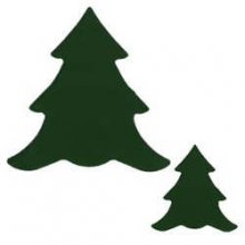 Dark Green Large Tree Precut Fusible Glass Shape 96 COE