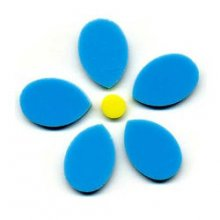 Blue Flower Precut Fusible Glass Shape 96 COE