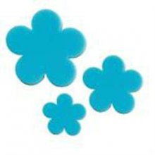 Turquoise Green Flower Precut Fusible Glass Shape 96 COE