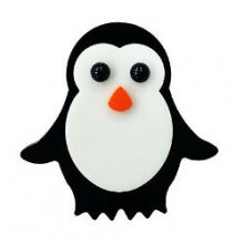 Standing Penguin Precut Fusible Glass Shape 96 COE