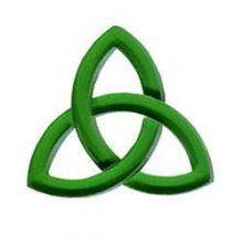 Green Celtic Knot Precut Fusible Glass Shape 96 COE