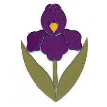 Purple Iris Precut Fusible Glass Shape 96 COE