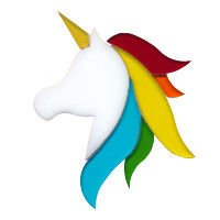 Unicorn Precut Fusible Glass Shape 96 COE
