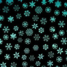 Silver Blue Snowflakes on Black Dichroic Glass 96 COE